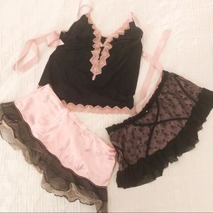 Jezebel Cami and 2 Skirt Set Size L